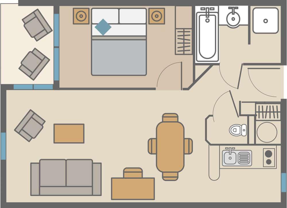 appartement 2 pieces à Saint-Malo
