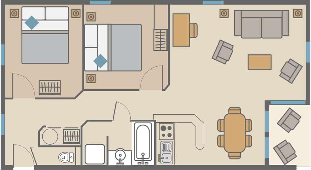 appartement 2 bedrooms